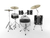 Kit de tambour sur le fond blanc Images libres de droits