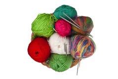 Kit de tricotage Images stock