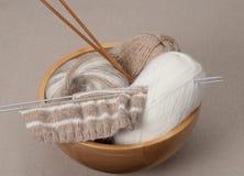 Kit de tricotage de métier Accessoires de passe-temps Photographie stock