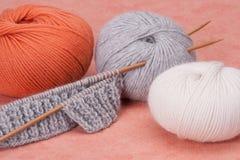 Kit de tricotage de métier. Accessoires de passe-temps Image libre de droits