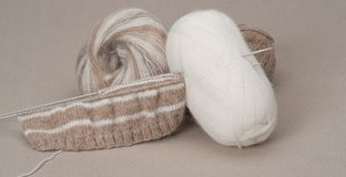 Kit de tricotage de métier Accessoires de passe-temps Photo stock
