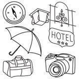 Kit de voyage du monde Photo stock