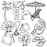 Kit de voyage du monde Image libre de droits