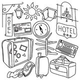 Kit de voyage du monde Photographie stock libre de droits