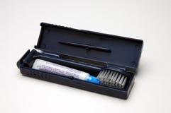 Kit del cepillo de dientes Foto de archivo