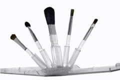 Kit del cepillo del maquillaje Foto de archivo libre de regalías