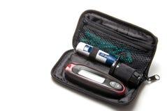 Kit del diabete fotografia stock