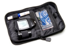 Kit del diabete Immagine Stock