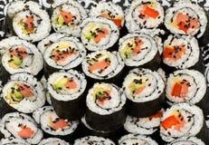 Kit del maki del sushi Fotografía de archivo libre de regalías