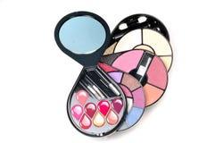 Kit del maquillaje Foto de archivo libre de regalías