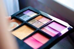 Kit del maquillaje para los ojos Foto de archivo libre de regalías