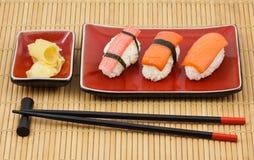 Kit del sushi Imágenes de archivo libres de regalías