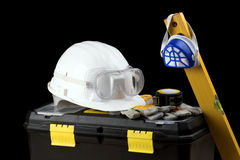 Kit dell'attrezzo di sicurezza fotografie stock libere da diritti