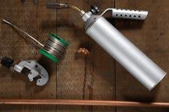 Kit dell'impianto idraulico immagini stock libere da diritti