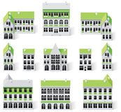 Kit della creazione del programma della città (DIY). Costruzioni della parte 9. illustrazione di stock