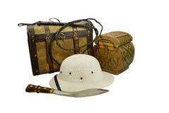 Kit di avventura Fotografia Stock