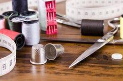 Kit di cucito fotografia stock