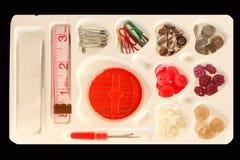 Kit di cucito Immagini Stock