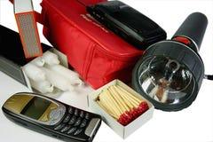 Kit di emergenza Fotografie Stock