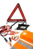 Kit di emergenza per l'automobile Immagini Stock