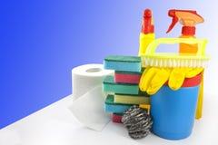 Kit di pulizia per il pulitore fotografia stock libera da diritti