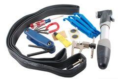Kit di riparazione di emergenza della bicicletta Immagini Stock Libere da Diritti