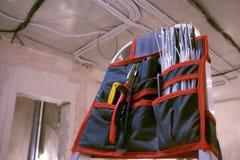 Kit di utensili degli elettricisti fotografia stock