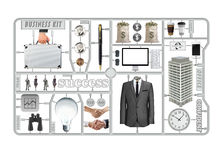 Kit di utensili di affari, oggetto di successo Immagini Stock