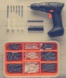 Kit di utensili domestico di DIY per mobilia facile fotografia stock libera da diritti