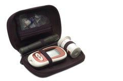 Kit diabético de la glucosa imagen de archivo libre de regalías