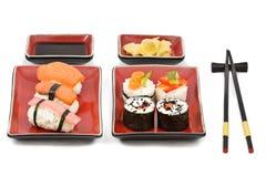 Kit doble del sushi Fotografía de archivo