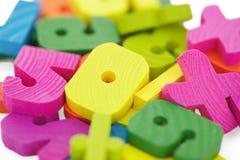 Kit en bois de chéri pour des mathématiques photo libre de droits