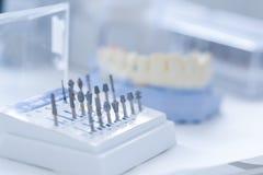 Kit en céramique dentaire de préparation Images stock