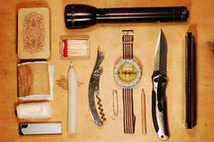 Kit esterno di emergenza Fotografia Stock