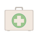 Kit first aid in box icon. Illustration Stock Photo