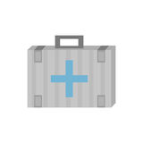 Kit first aid cross emergency medical. Vector illustration eps 10 Stock Photos