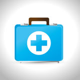 Kit first aid medicine emergency service. Vector illustration eps 10 Stock Image