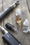 Kit for healthy smoking on wooden table Stock Images