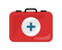 Kit Icon Isolated médical Sac réaliste de secours illustration de vecteur
