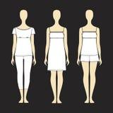 Kit jersey home. Pyjamas for women. Royalty Free Stock Photography