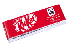 Kit-Kat Chocolate Bar Imagens de Stock Royalty Free
