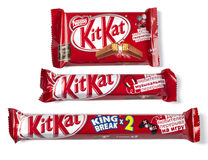 Kit Kat series For Those Who Like To Break candy chocolate Stock Images
