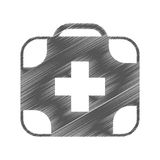 Kit medical isolated icon Royalty Free Stock Images