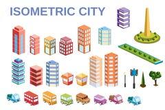 Kit metropolis of skyscrapers Royalty Free Stock Images
