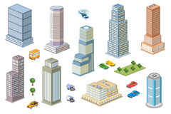 Kit metropolis of skyscrapers Royalty Free Stock Photography