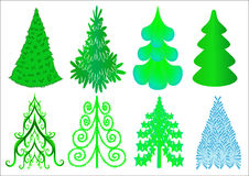 Kit miscellaneous fir tree Stock Image