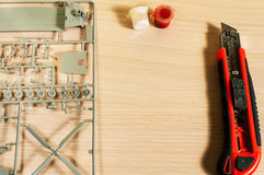Kit modelo plástico Imagens de Stock