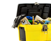 Free Kit Of Tools In Box Isolated On White Stock Photos - 20588133