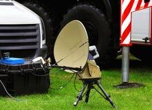 Kit portatif des communications militaires de champ Photo libre de droits
