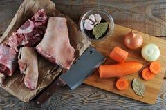 Kit pour la préparation de la gelée - jambes de porc, jambes de porc, carro Photo libre de droits